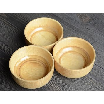 2017 natural wooden bowl japanese wooden bamboo bowls for food for Baby 10*6cm