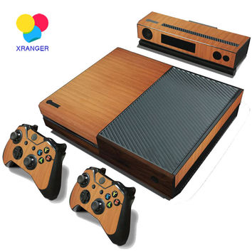 Wood Decal Skin For Microsoft XBOX ONE Skin Stickers + 2PCS Controller Skin Console Stickers For Xbox One Game Accessories