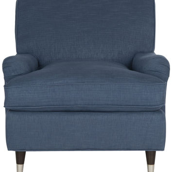 MCR4571J Navy Linen Armchair - Accent Chair