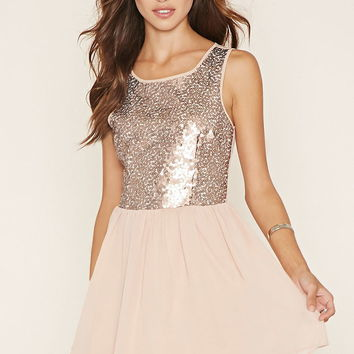 Sequined Fit & Flare Dress | Forever 21 - 2053073173