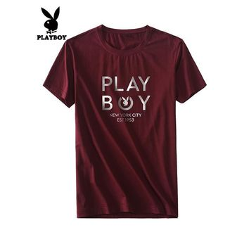 Men's Fashion Round-neck Print Short Sleeve Men T-shirts [12171536083]