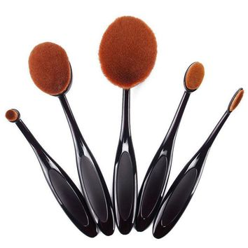 Pro Toothbrush Oval Foundation Powder Eyeshadow Brush