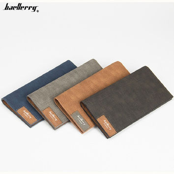 Newest design men's high quality Cross pattern Antique long style money clip very thin wallet purse for man 13855-3