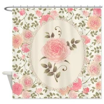 Victorian Rose Pink Shower Curtain> Decorator Shower Curtains> MORE PRODUCTS-CLICK HERE-GetYerGoat.com