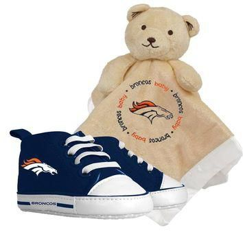 Denver Broncos NFL Infant Blanket and Shoe Set