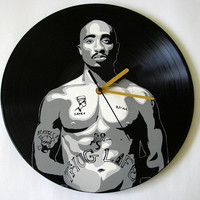 2Pac vinyl record clock Rap Hip Hop
