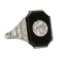1STDIBS.COM Jewelry & Watches - Black Onyx Beauty 1920 - Single Stone