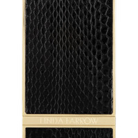 Linda Farrow | + Case Scenario gold-tone and watersnake iPhone 5 cover | NET-A-PORTER.COM