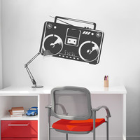 Boombox Wall Decal