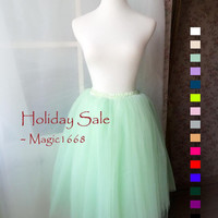 Mint Tulle Skirt Adult or Girls Tulle Skirts Mint Skirt Carrie Bradshaw Tutu - Customized summer fashion -magic1668