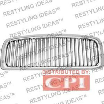 Dodge 2002-2006 Dodge Ram Chrome Vertical Narrow Bar Abs Grille Performance