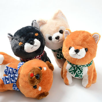 Mameshiba San Kyodai: Tabi no Tochu Plushies (Big)
