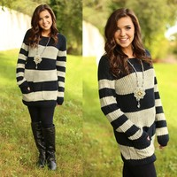So Cute In Stripes Sweater