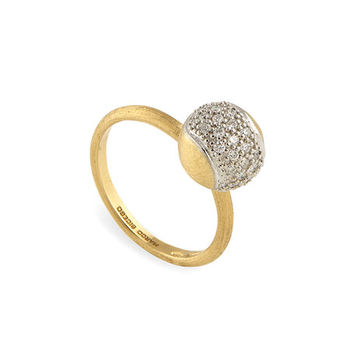 Marco Bicego Tennis 18K Gold Pavé Diamond Ball Ring