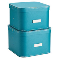The Container Store > Turquoise Oskar Boxes