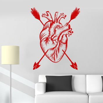 Vinyl Wall Decal Love Heart Arrow Romantic Decor Stickers Mural Unique Gift (ig3493)