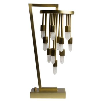 Emporium Home Quartz Falls Table Lamp - Brass | New Lighting | What's New! | Candelabra, Inc.