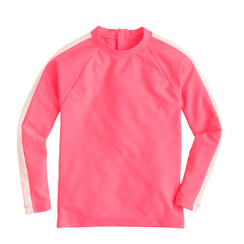 crewcuts Girls Rash Guard In Contrast Stripe