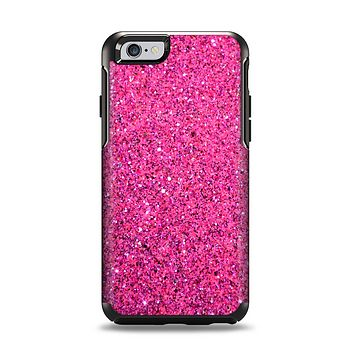 The Pink Sparkly Glitter Ultra Metallic Apple iPhone 6 Otterbox Symmetry Case Skin Set