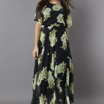 Blooming Whisper Floral Maxi Dress