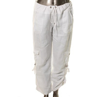 XCVI Womens Ramie Convertible Cargo Pants