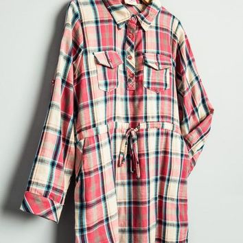 Girls Flannel Tunic with Belt
