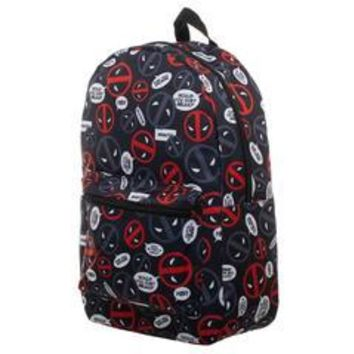1245d4628578 Marvel Deadpool Bag Sublimated Backpack - Deadpool Backpack Grea