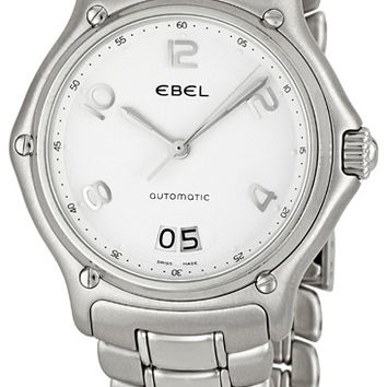 Ebel 1911 White Dial Stainless Steel Mens Watch 9125241-10665P