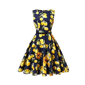 Tea Length Cocktail Dresses, Blue Lemon, US Sizes 4 - 26