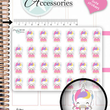 Birthday Stickers Birthday Planner Stickers Party Stickers Kawaii Unicorn Stickers Planner Stickers Kawaii Stickers Erin Condren NR1566
