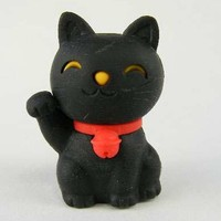 Japanese Eraser - LUCKY CAT BLACK