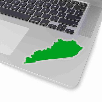 Kentucky State Shape Sticker GREEN