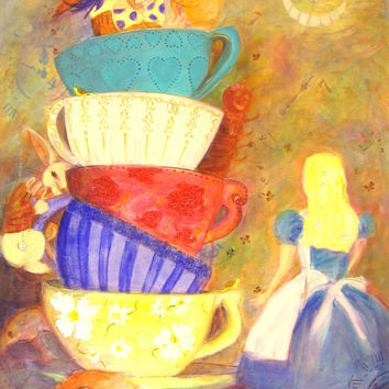 Madhatter Tea Time mouse snail alice in wonderland