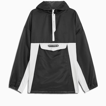 anorak windbreaker / black + ivory