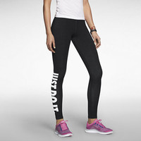 Nike Pro Leg-A-See JDI Tight Leggings Black & White JUST DO IT 586395-015