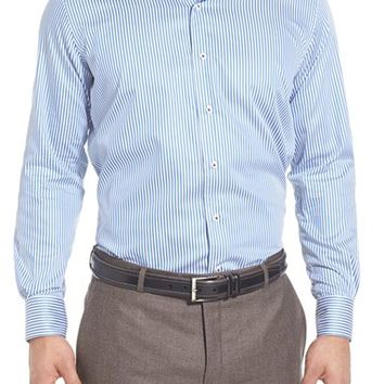 Men's Peter Millar Regular Fit Satin Stripe Sport Shirt,