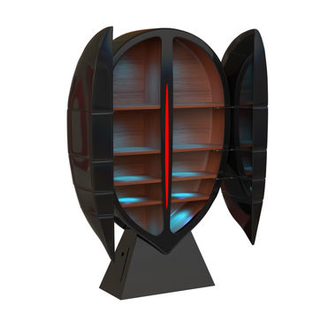 Lacquered bar cabinet ENIGME Bar cabinets Collection by Pierre Cardin - Forme | design Studio Pierre Cardin