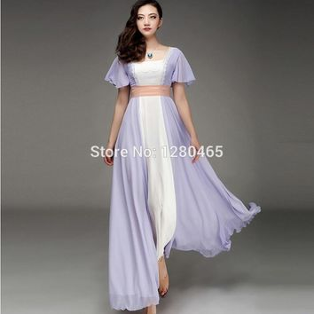 Vestidos  Titanic Rose Chiffon Celebrity Dress Evening Dress Prom Gown Women Dress High Real Image Quality Maxi Dress