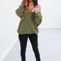 Restock: The Kelsey Sweater: Olive