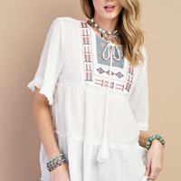 Patch Panel Tunic Top