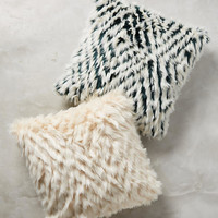 Diamante Faux-Fur Pillow