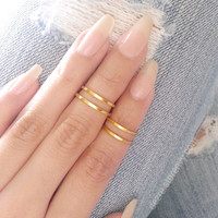 Set of 4 Midi Rings