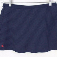 Ralph Lauren Cable Knit Mini Skirt L size Navy Blue Stretch Easy Wear Beach