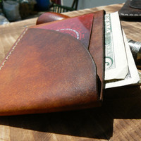 Thin Leather Wallet,Brown Slim Wallet ,Minimalist Wallet,Leather Wallet, Wallet, Mens Wallet, Leather