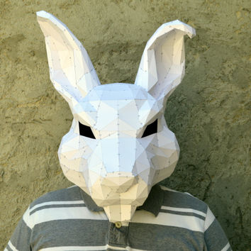 Make Your Rabbit Mask. | Papercraft Rabbit | Papercraft Mask | Paper Reabbit | Paper Bunnny | Papercraft Bunny | Plain Papyrus | Halloween