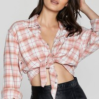 After Party Vintage Keep in Check Plaid Top