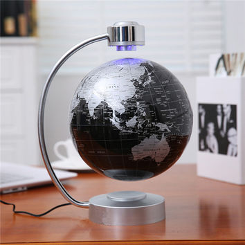 8 Inch Electronic Magnetic Levitation Floating Globe World Map with LED Lights for Boyfriend Christmas Gift Home Decoration