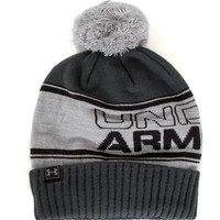 Under Armour Pom Beanie in Stealth for Men 1283110-025
