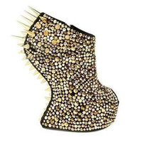 M.M Rhinestone Spiked Boots