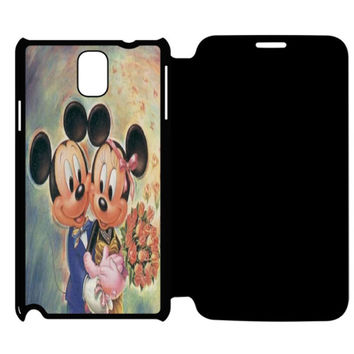 Vintage Mickey Mouse and Minnie Mouse Samsung Galaxy Note 4 Flip Case Cover